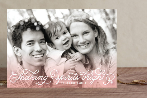 Ombre Sparkle Christmas Photo Cards
