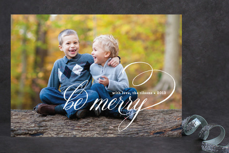 Merry Wishes Christmas Photo Cards