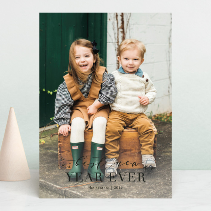 """Greatest Joy"" - Christmas Photo Cards in Snow by Amy Kross."
