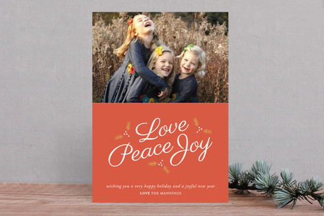 Love Peace & Joy Christmas Photo Cards