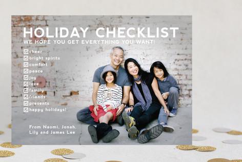 Checklist Christmas Photo Cards