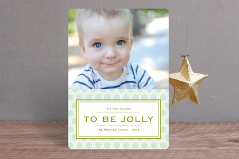 Honeycomb Christmas Photo Cards
