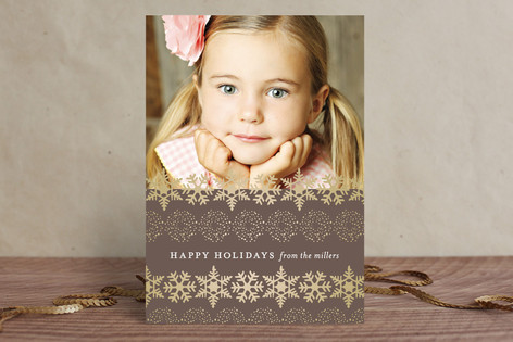 Happy Snowflakes Christmas Photo Cards