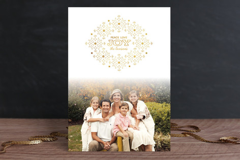 Glistening Joy Christmas Photo Cards