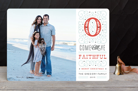 Faithful Greetings Christmas Photo Cards