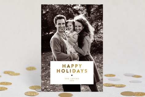 Gilded Christmas Christmas Photo Cards