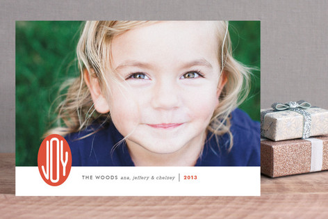 Joy Emblem Christmas Photo Cards
