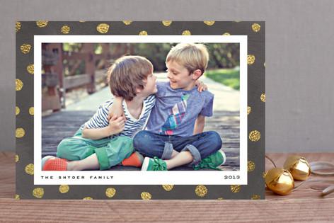 Pebble Dot Christmas Photo Cards
