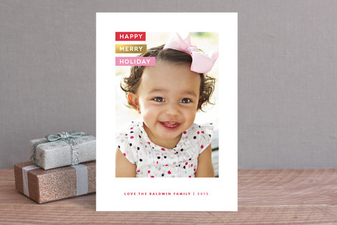 Labeled Christmas Photo Cards