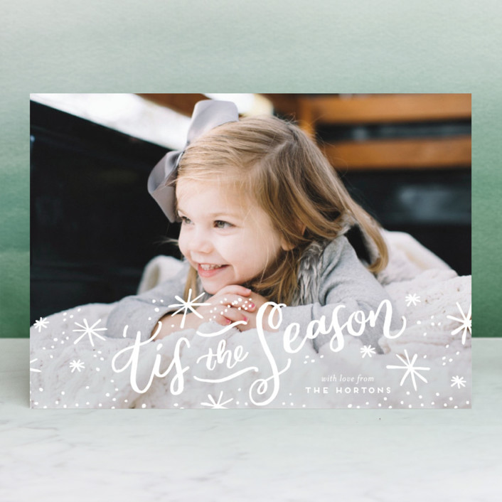 """'Tis the Holiday Season"" - Christmas Photo Cards in Snow by Frooted Design."