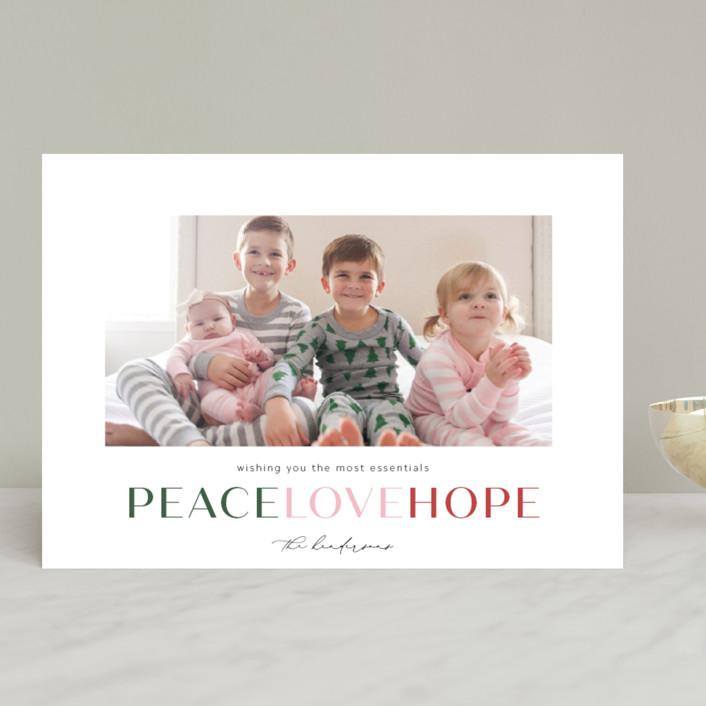 """""""the most essentials"""" - Christmas Photo Cards in Pine by Aspacia Kusulas."""