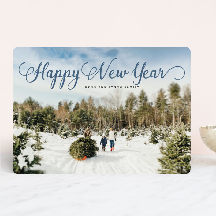 """""""Stylish and Merry"""" - Christmas Photo Cards in Fern Green by Alexandra Dzh."""