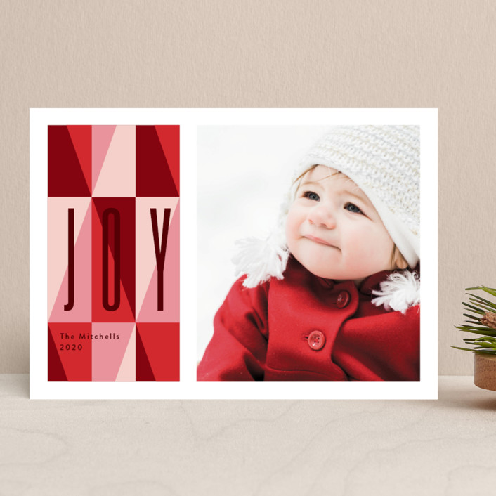 """bright like a diamond"" - Vintage Christmas Photo Cards in Ruby by Anelle Mostert."