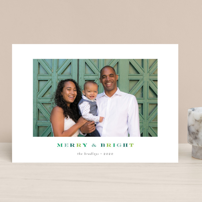 """""""so merry and bright"""" - Christmas Photo Cards in Pine by Shirley Lin Schneider."""