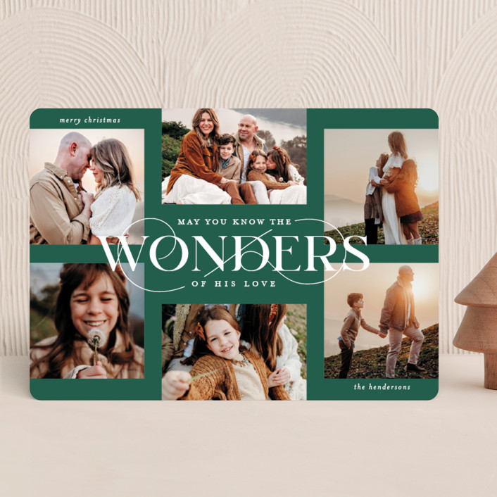 """Glorious Wonders"" - Christmas Photo Cards in Pine Tree by Lauren Chism."