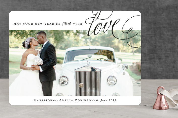 """Filled With Love"" - Christmas Photo Cards in Noir by Kimberly FitzSimons."