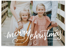 This is a white photo christmas card by Kristen Smith called Winter Brush with standard printing on smooth signature in standard.