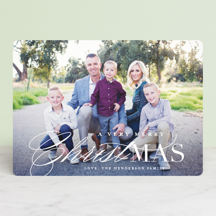 """True Meaning"" - Christmas Photo Cards in Snow by Lauren Chism."