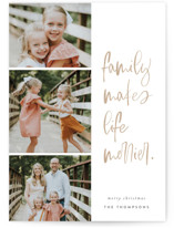This is a brown photo christmas card by Carrie ONeal called Merry Life with standard printing on smooth signature in standard.