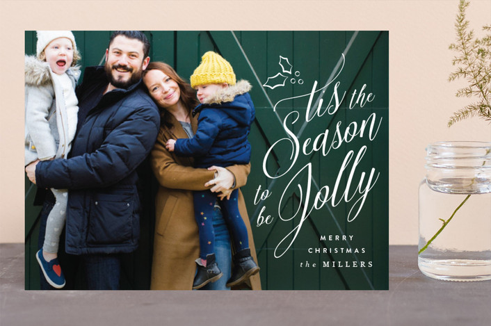 """""""Tis the Season to be Jolly"""" - Christmas Photo Cards in Snow by Owl and Toad."""