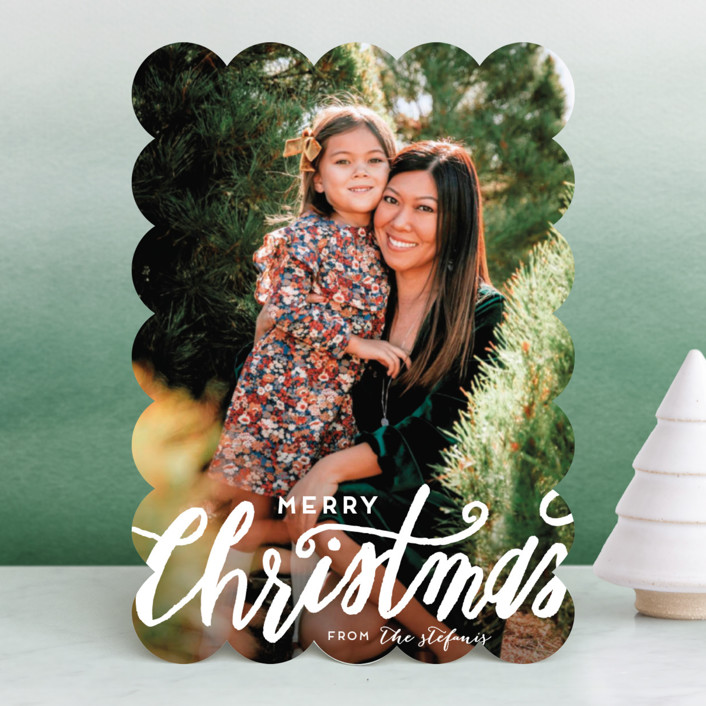 """""""Scripted Christmas"""" - Vintage Christmas Photo Cards in Snow by Grace Kreinbrink."""
