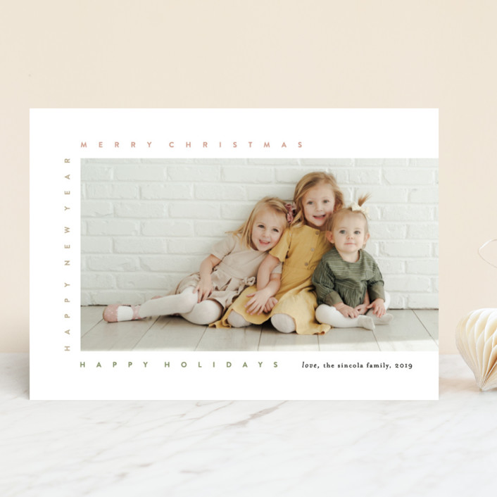 """""""merry frame"""" - Christmas Photo Cards in Petal by Bethany McDonald."""