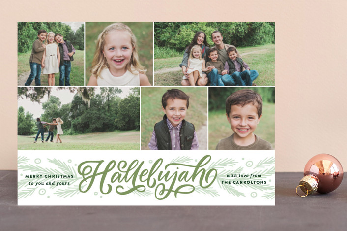 """Hallelujah Entwined"" - Christmas Photo Cards in Grass by Kristen Smith."