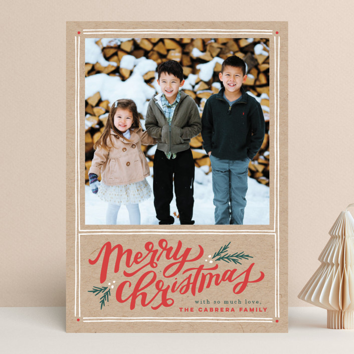 """""""A Very Merry Christmas"""" - Vintage Christmas Photo Cards in Kraft by Wildfield Paper Co.."""