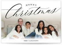 This is a black photo christmas card by Sarah Curry called Christmastide with standard printing on smooth signature in standard.