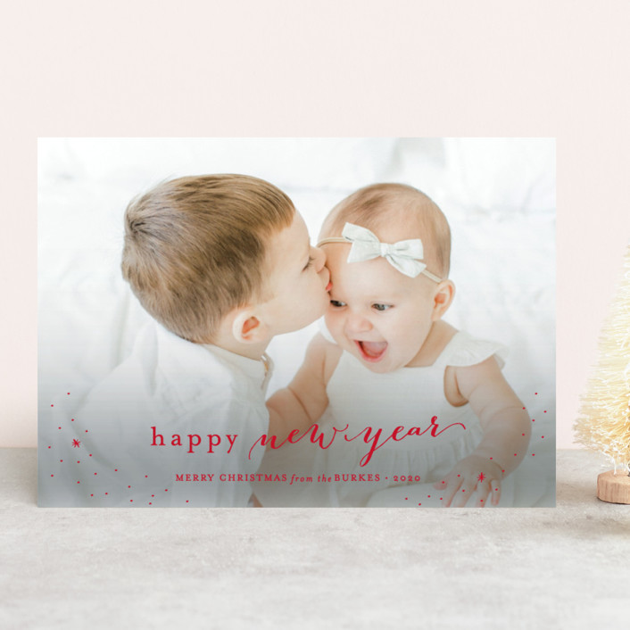 """""""Counting Our Blessings"""" - Christmas Photo Cards in Scarlet by Sarah Curry."""
