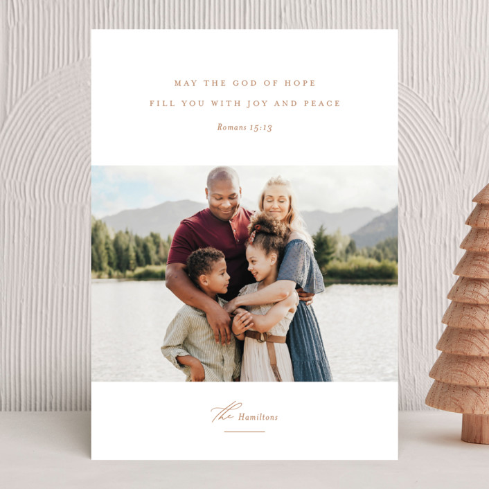 """""""Romans 15:13"""" - Christmas Photo Cards in Golden by Jessica Williams."""