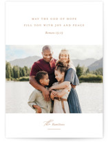 This is a brown photo christmas card by Jessica Williams called Romans 15:13 with standard printing on pearlescent in standard.
