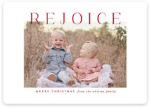 This is a red photo christmas card by Jessica Williams called Rejoice Simplicity with standard printing on smooth signature in standard.