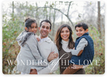 This is a white photo christmas card by Jessica Williams called New Wonders with standard printing on smooth signature in standard.
