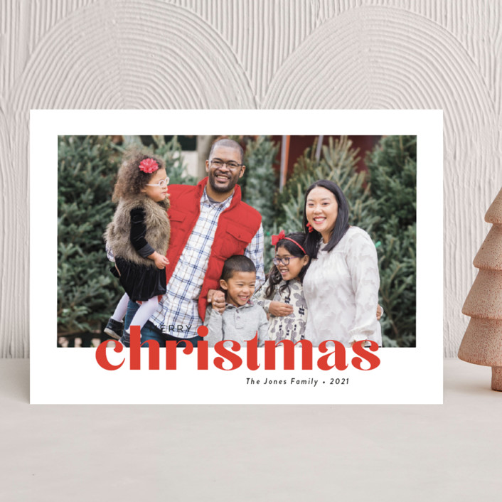 """""""Bold Greeting"""" - Christmas Photo Cards in Santa by Susan Asbill."""