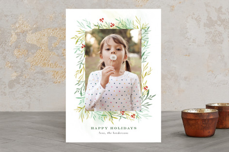 Among the Leaves So Green Christmas Photo Cards
