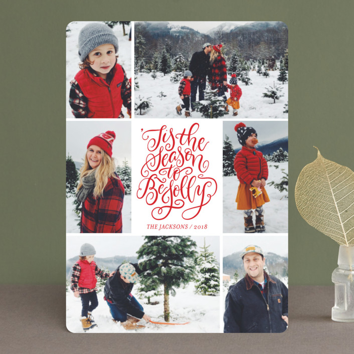 Be Jolly Collage Christmas Photo Cards by Laura Bolter Design | Minted