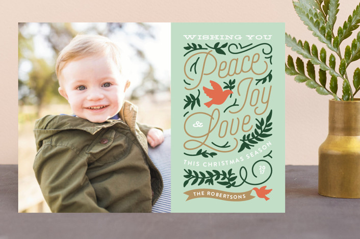"""""""Doves"""" - Vintage Christmas Photo Cards in Mint by Genna Cowsert."""