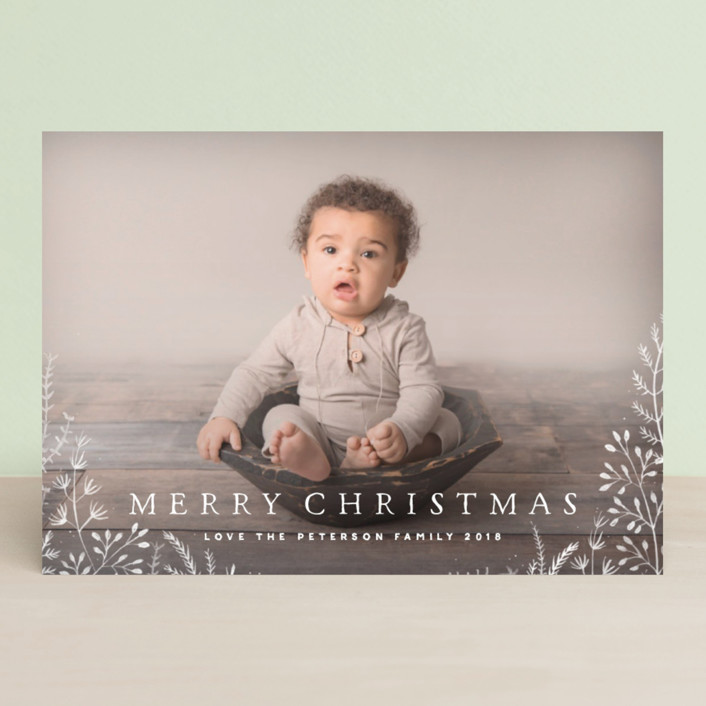 """Wild and Free"" - Christmas Photo Cards in Cornflower by Design Lotus."