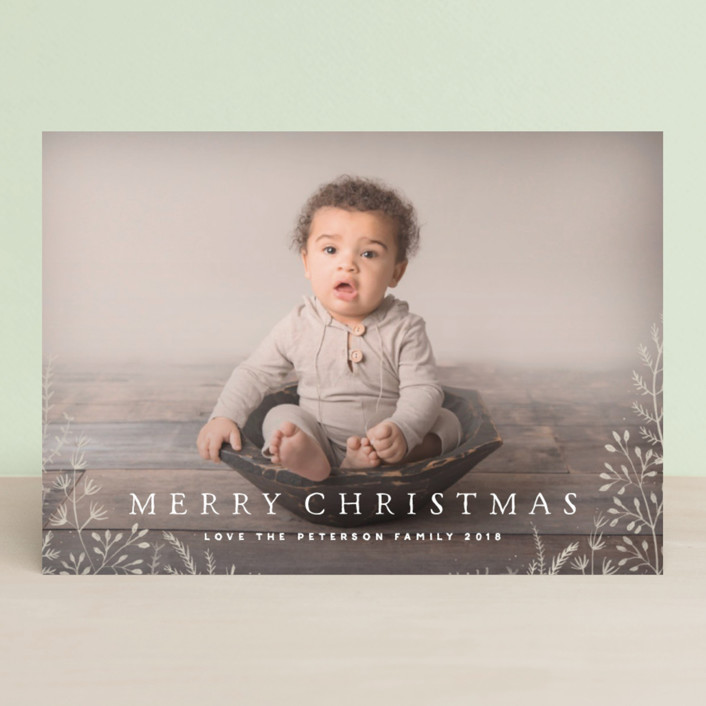 """""""Wild and Free"""" - Christmas Photo Cards in Cornflower by Design Lotus."""