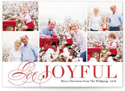 Bursting with Joy Christmas Photo Cards