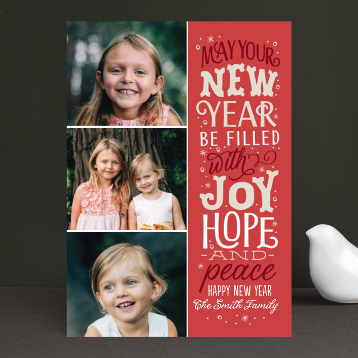 """""""The God of Hope"""" - Christmas Photo Cards in Soft Juniper by Sarah Brown."""