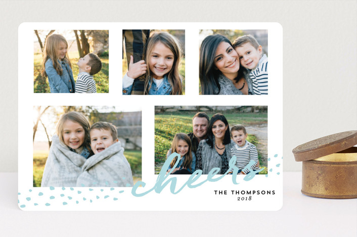 """""""Dotted Joy"""" - Bohemian Christmas Photo Cards in Snow by Lindsay Megahed."""