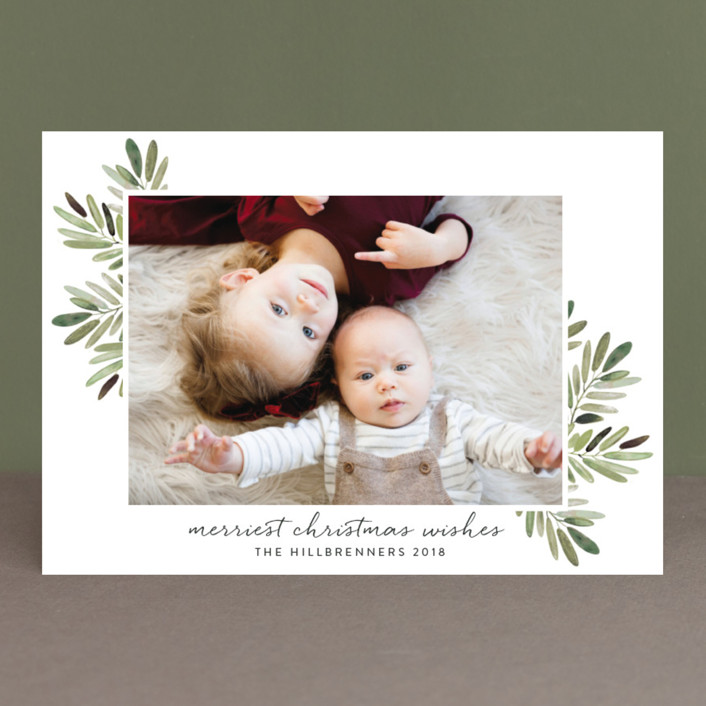 """Al Fresco"" - Christmas Photo Cards in Snow by Haley Warner."