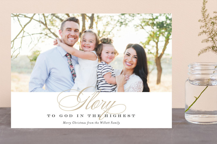 """Glory in the Highest"" - Christmas Photo Cards in Golden by Jessica Williams."