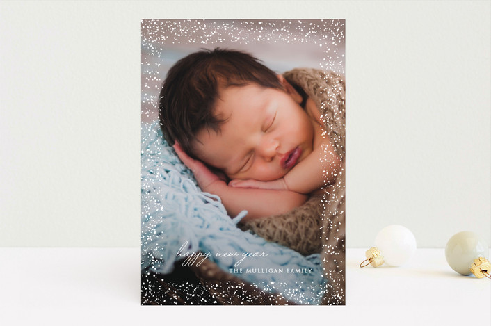 """Light Shine"" - Christmas Photo Cards in Linen by Erin Deegan."