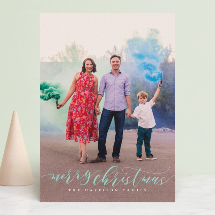 """""""Dreamy"""" - Christmas Photo Cards in Snowflake by Jessica Williams."""