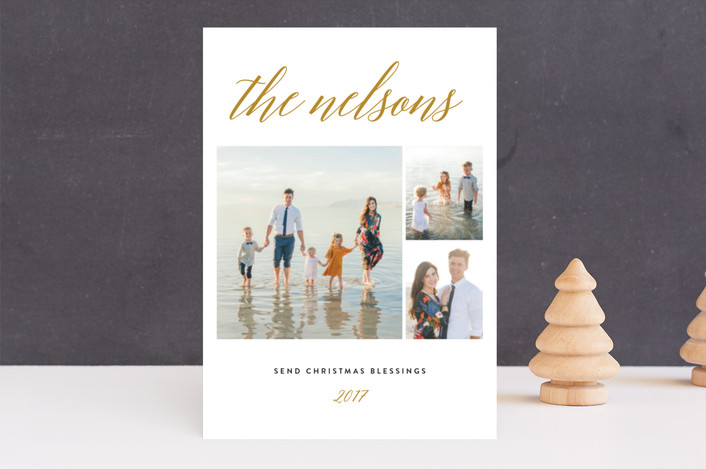 """""""Comfy Cozy"""" - Christmas Photo Cards in Berry by carly reed walker."""