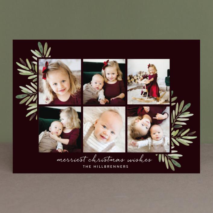 """Al Fresco"" - Christmas Photo Cards in Merlot by Haley Warner."