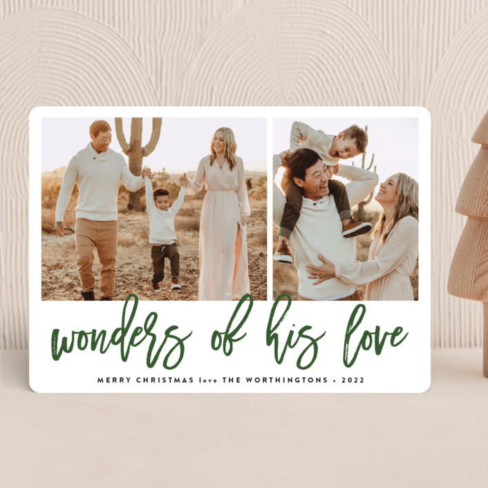 """""""Wonders"""" - Christmas Photo Cards in Forest by Roxy Cervantes."""